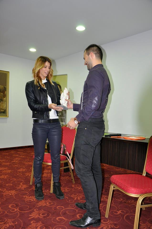Награждаване на Цветана Пиронкова